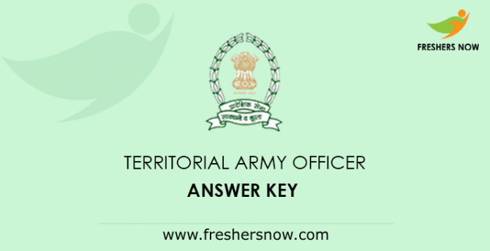 Territorial Army Officer Answer Key 2019