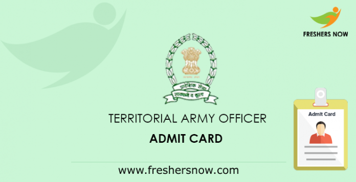 Territorial Army Officer Hall Ticket 2019