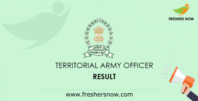 Territorial Army Officer Result