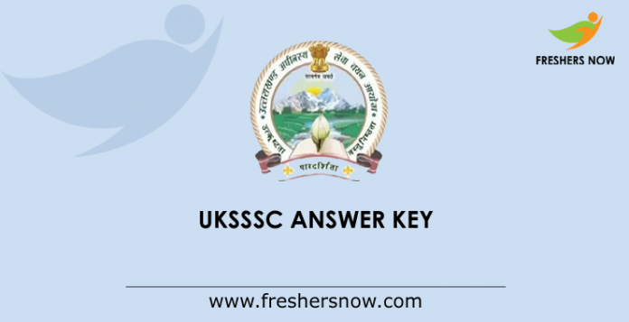 UKSSSC Answer Key 2019