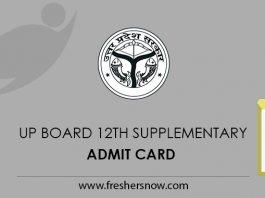 UP Board 12th Supplementary Admit Card