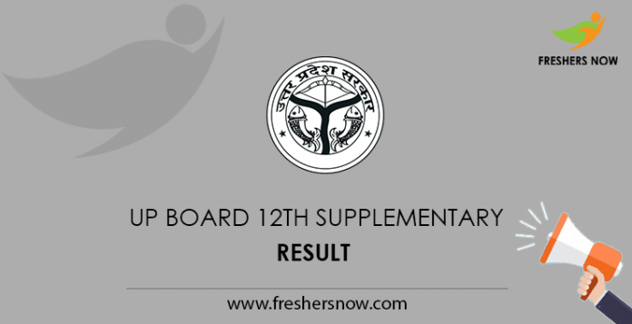 UP Board 12th Supplementary Result 2019