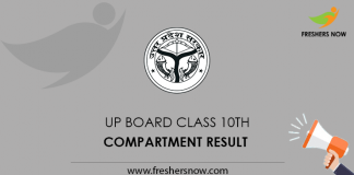 UP Board Class 10th Compartment Result