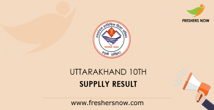 Uttarakhand 10th Supplementary Result