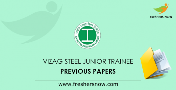 VIZAG Steel Junior Trainee Previous Papers