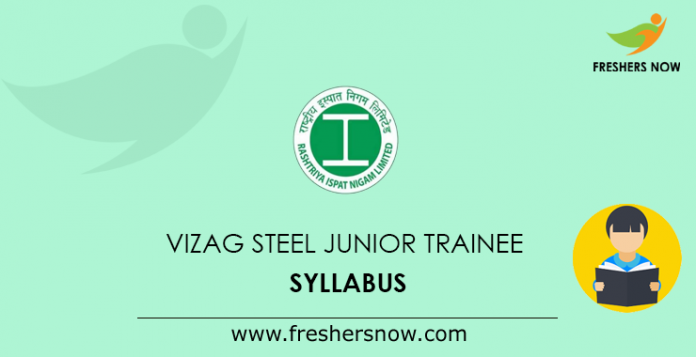 VIZAG Steel Junior Trainee Syllabus