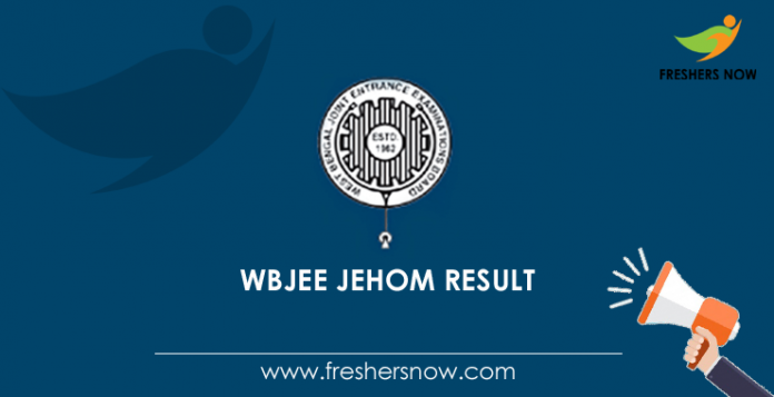 WBJEE JEHOM Result 2019