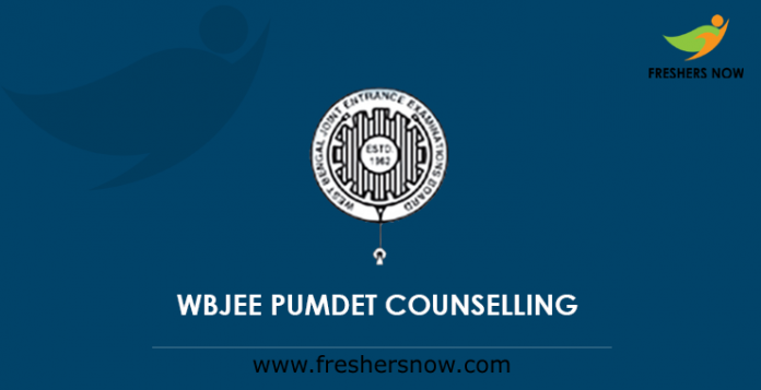 WBJEE PUMDET Counselling