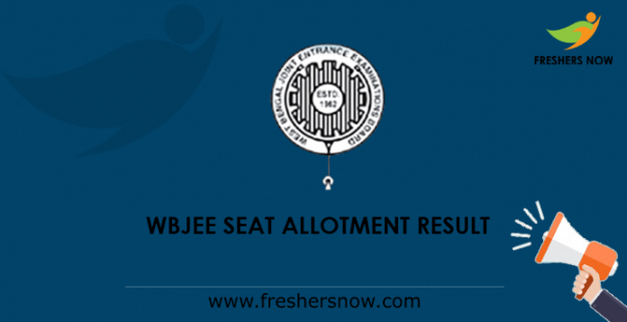 WBJEE Seat Allotment Result