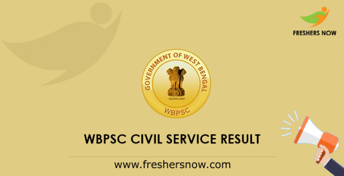 WBPSC Civil Service Mains Result