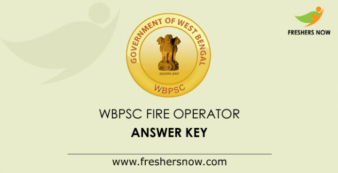 WBPSC Fire Operator Answer Key