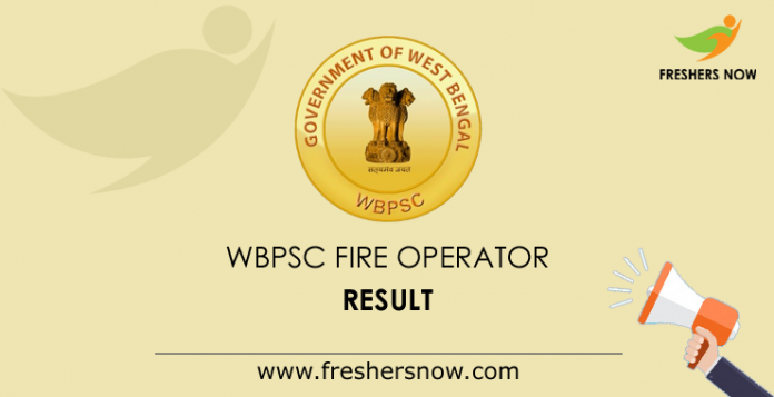 WBPSC Fire Operator Result