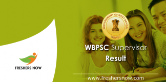 WBPSC Supervisor Result