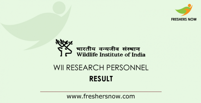 WII Research Personnel Result 2019