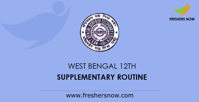 West Bengal 12th Supplementary Routine 2019