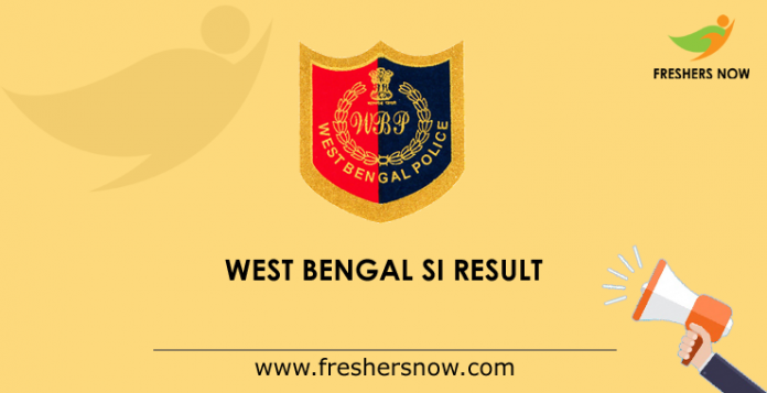 West Bengal SI Result 2019