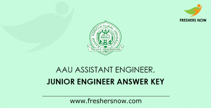 AAU AE JE Answer Key 2019