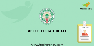 AP D.El.Ed 2nd Year Hall Ticket