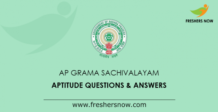 AP Grama Sachivalayam Aptitude Questions & Answers