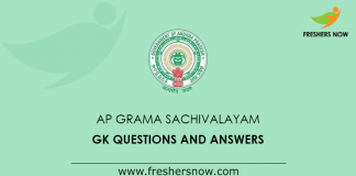 AP Grama Sachivalayam GK Questions and Answers
