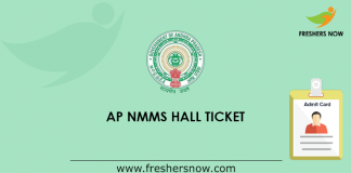 AP NMMS Hall Ticket