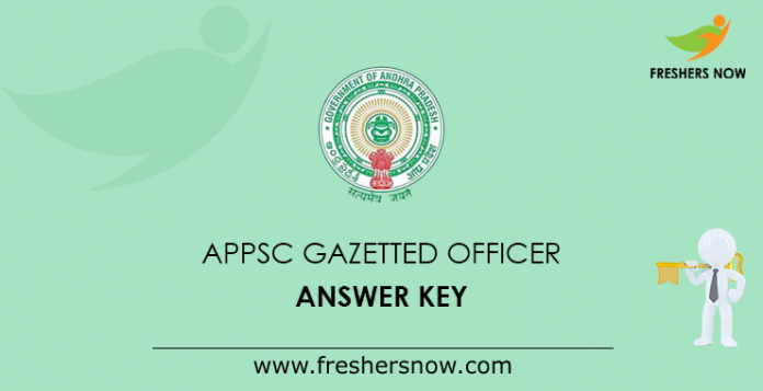 APPSC Gazetted Officer Answer Key