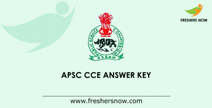APSC CCE Mains Answer Key 2019
