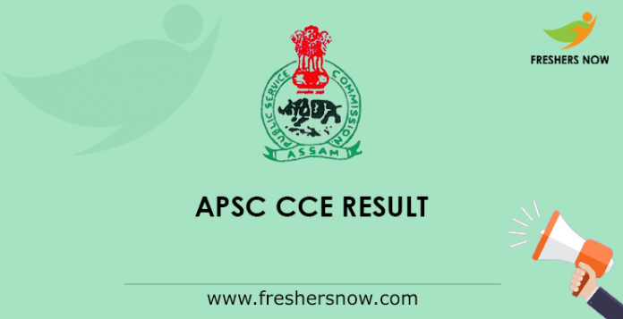 APSC CCE Mains Result