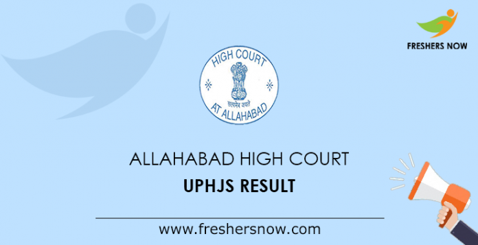 Allahabad High Court UPHJS Result