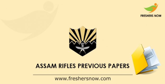 Assam Rifles GD Previous Papers