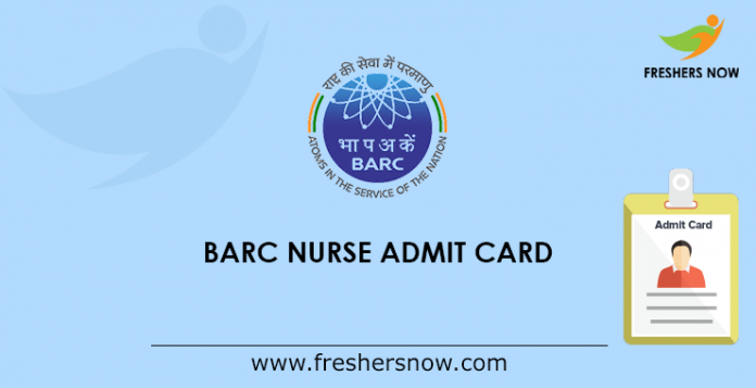 BARC Nurse Admit Card