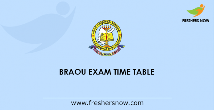 BRAOU Exam Time Table
