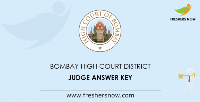 Bombay High Court District Judge Answer Key
