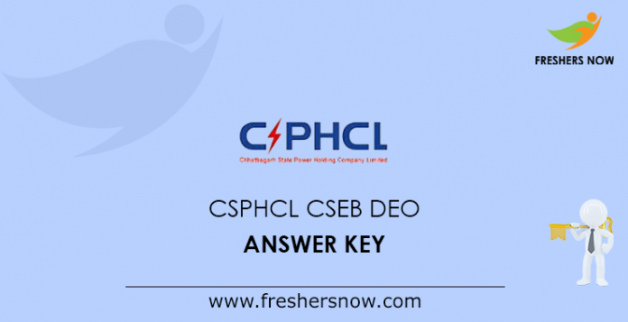 CSPHCL CSEB DEO Answer Key