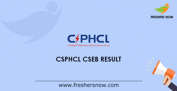 CSPHCL CSEB DEO Result