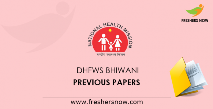 DHFWS Bhiwani Previous Papers