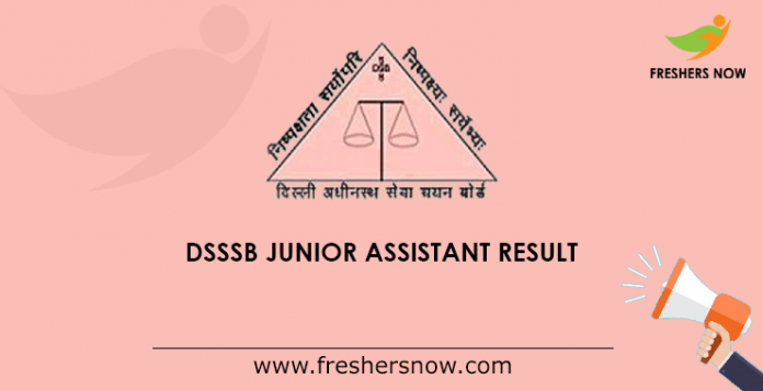 DSSSB Junior Assistant Result