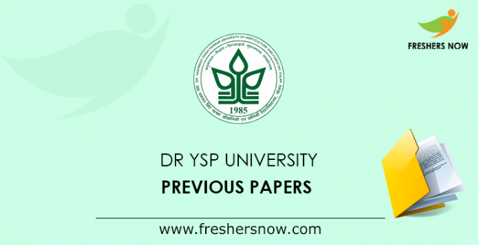 Dr YSP University Previous Papers
