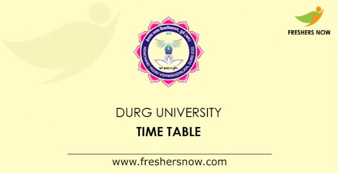 Durg University Time Table