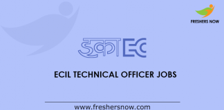 ECIL Technical Officer Jobs
