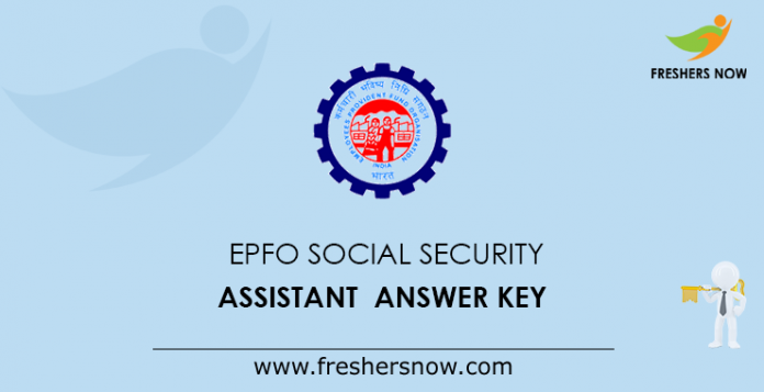 EPFO Social Security Assistant Answer Key