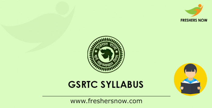 GSRTC Clerk, Traffic Controller, Junior Assistant Syllabus 2019 PDF