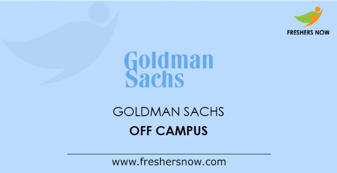 Goldman Sachs Off Campus