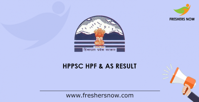 HPPSC HPF & AS Result