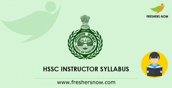 Haryana SSC Syllabus 2019 PDF (Instructor, Librarian, Store Keeper)