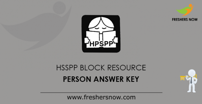 HSSPP Block Resource Person Answer Key