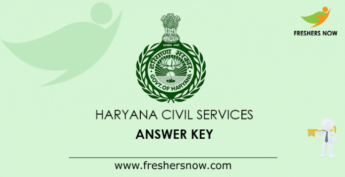 Haryana Civil Services Answer Key