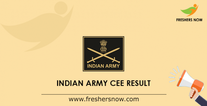 Indian Army CEE Result