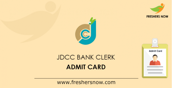 JDCC Bank Clerk Admit Card