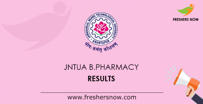 JNTUA B.Pharmacy Results